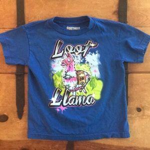 Fortnite Boys Blue Graphic Tee Shirt